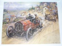 TARGA FLORIO 1907 Felice Nazzaro's winning FIAT  by Gordon Crosby